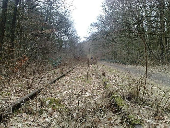 De opgedoekte spoorlijn naar Kleef.
