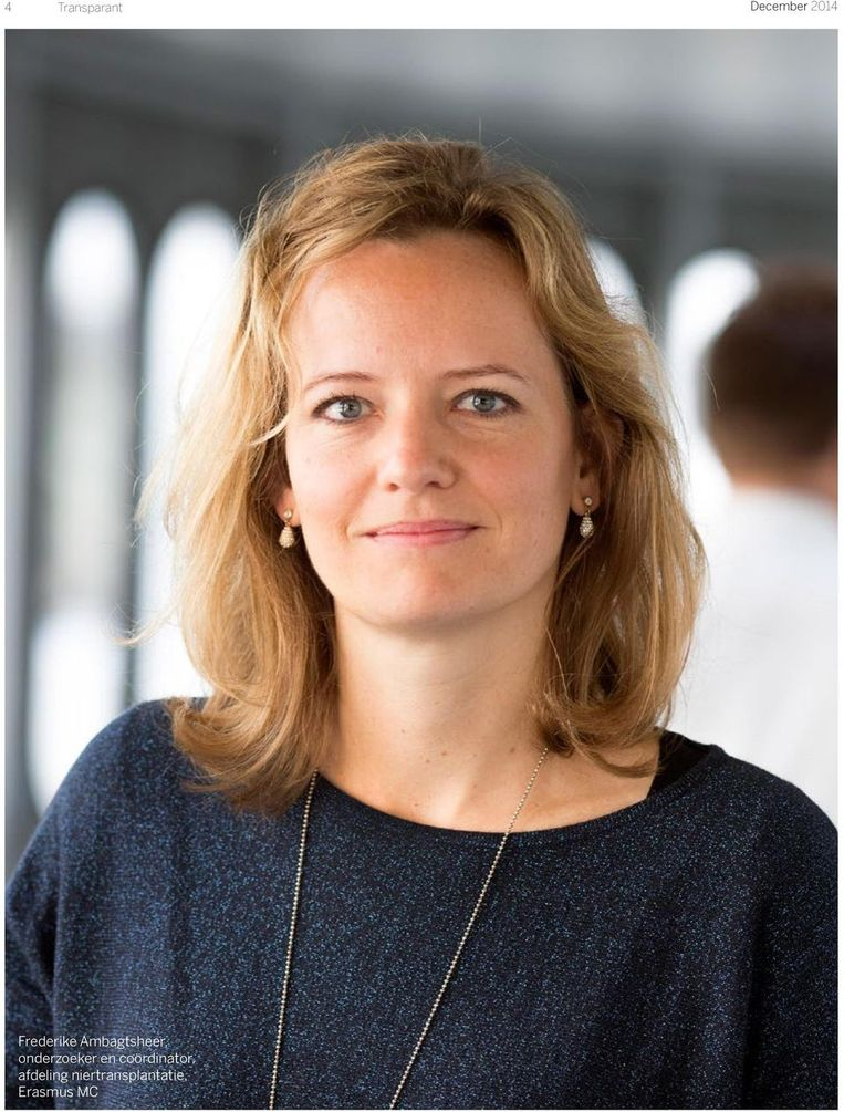 Frederike Ambagtsheer promoveerde cum laude op haar onderzoek naar orgaanhandel Beeld rv