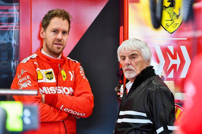 Sebastian Vettel et Bernie Ecclestone