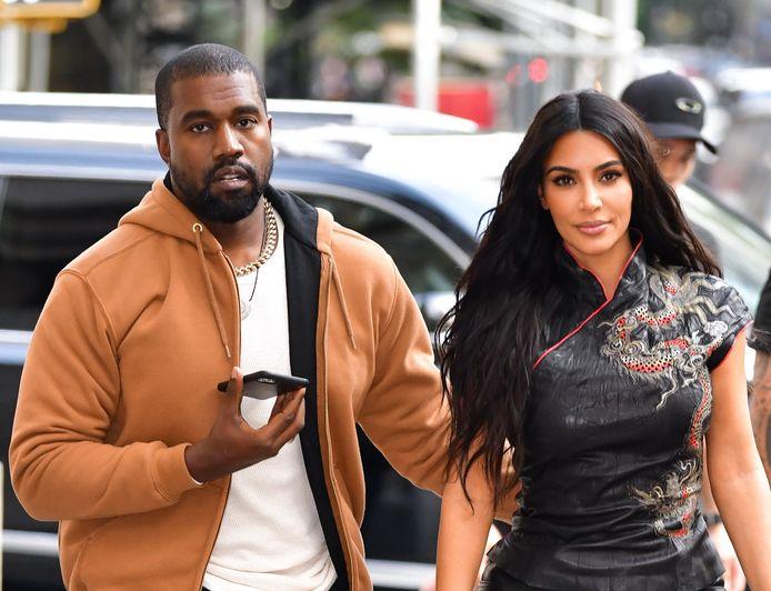 Kanye West en Kim Kardashian in betere tijden.