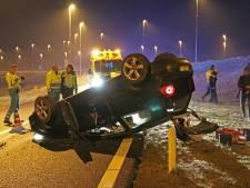 Man met schrik vrij na zware crash op de snelweg bij Emmeloord