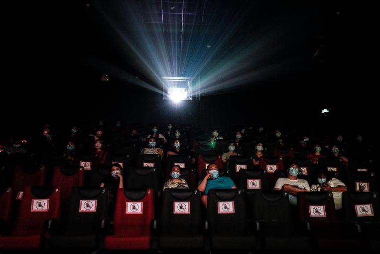 Een cinemabezoek ziet er sinds juli helemaal anders uit.  Beeld Getty Images