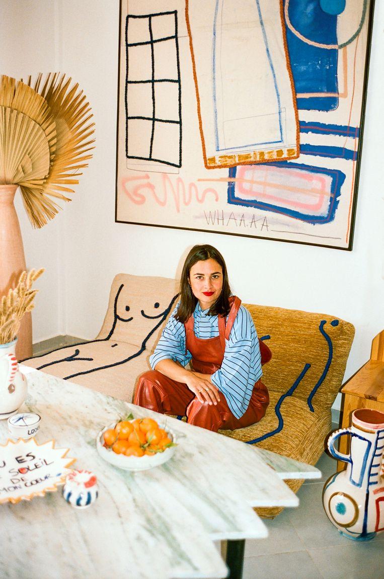 Laurence Leenaerts vond inspiratie voor haar collectie LRNCE in Marrakech. Beeld rv Bastien Lattanzio