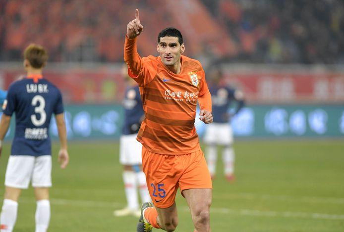 Marouane Fellaini évolue pour le club chinois de Shandong Luneng Taishan.