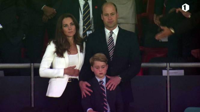 Prins George (7) in extase na vroege 1-0 in EK-finale, maar zijn enthousiasme slaat om in teleurstelling