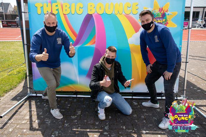 De organisatoren van The Big Bounce on Tour zitten al volgeboekt tot juni. Guy, Brent en Gert trokken afgelopen week naar Beveren.