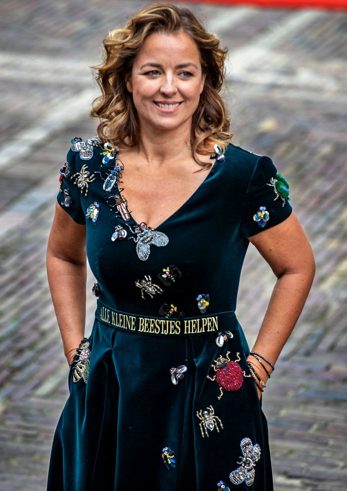 Afgelopen Prinsjesdag stal Marianne Thieme de show met haar 'insectenjurk'.
