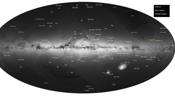 Europese satelliet Gaia brengt meer dan miljard sterren nauwkeurig in kaart