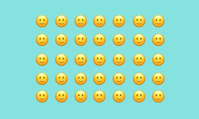 De simpelste smiley, met de meest complexe interpretatie.