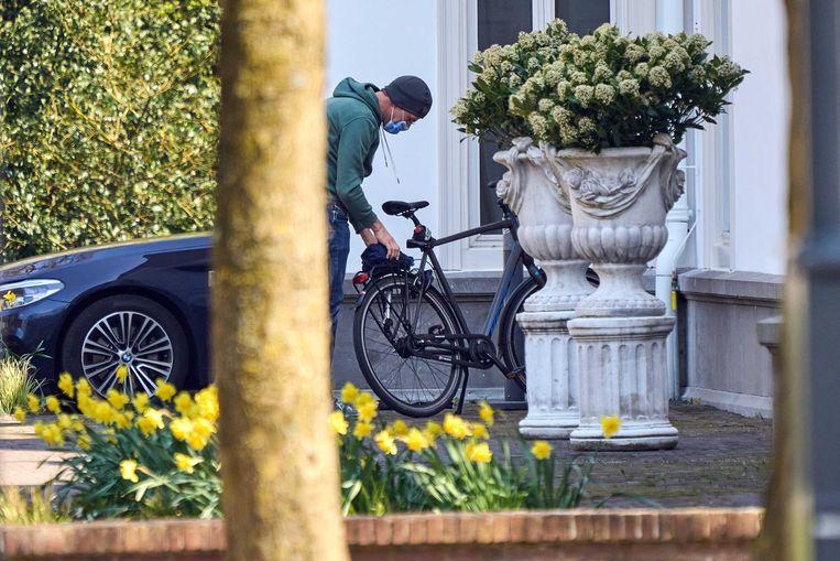 Demissionair premier Mark Rutte bij het Catshuis. Beeld ANP