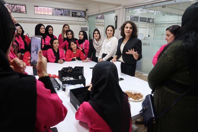 Shapol Majid in haar atelier.