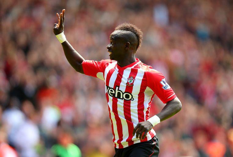 Sadio Mané tekende voor de snelste hattrick ooit in de Premier League Beeld GETTY