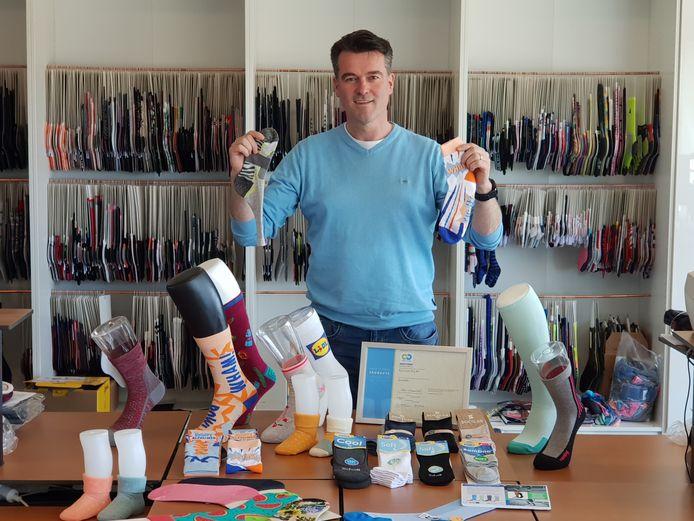 Directeur Pascal Betten van Euro Sox Plus BV, dat eind dit jaar van Holten naar Nijverdal verhuist.