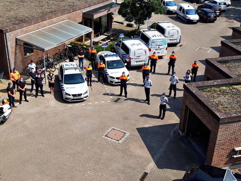 Ook de agenten van de zone Getevallei herdachten de slachtoffers.