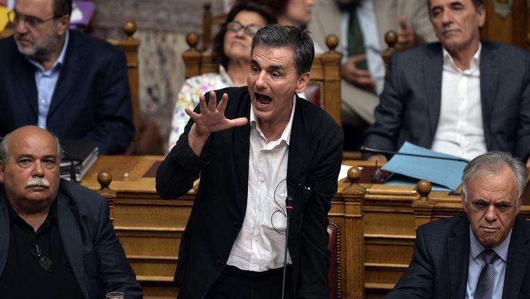 De Griekse minister van Financiën, Euclide Tsakalotos.