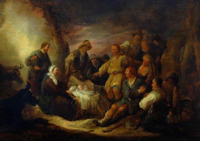 Benjamin Gerritsz. Cuyp, De aanbidding van de herders, ca. 1635, Dordrechts Museum.