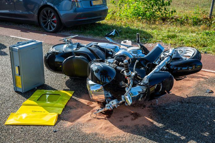 De motor van de gecrashte bestuurder.
