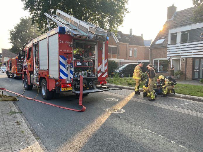 In Putten is iemand gewond geraakt bij een woningbrand.