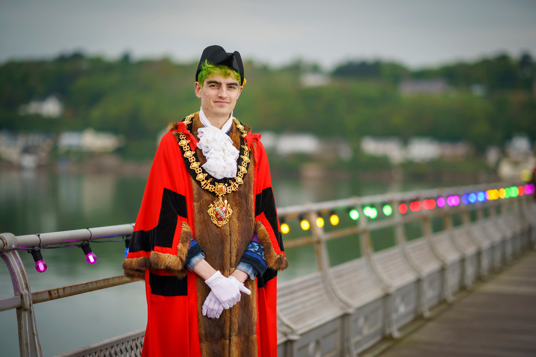 Owen Hurcum, burgemeester van Bangor. Beeld Getty Images