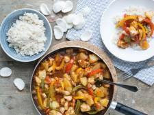 Wat Eten We Vandaag: Kip Hawaii met rijst