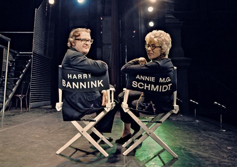 Harry Bannink en Annie M.G. Schmidt. Beeld Henk PotHoff