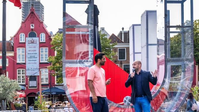 Rood, wit (én perfect voor een selfie): dit nieuwe stadssymbool staat vanaf vandaag op de Neude