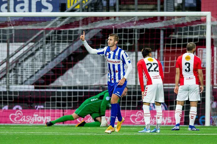 Benjamin Nygren heeft de 1-1 gemaakt namens Heerenveen.