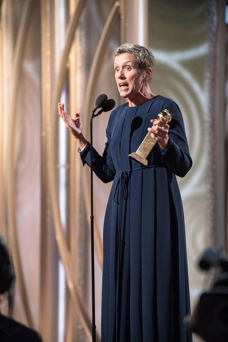 Frances McDormand ontvangt haar Golden Globe Beeld afp