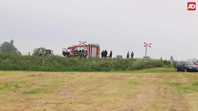 Hulpdiensten ter plaatse bij het incident
