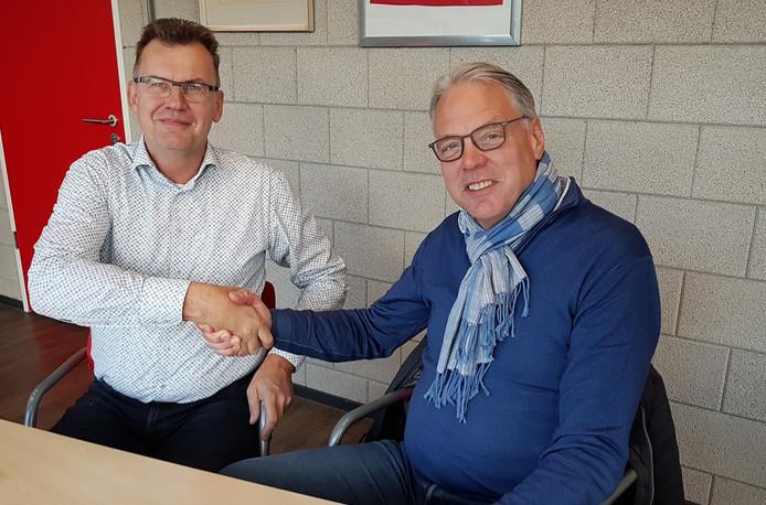 Hans van den Bighelaar (links) volgt Bert Wernke op bij NIVO-Sparta