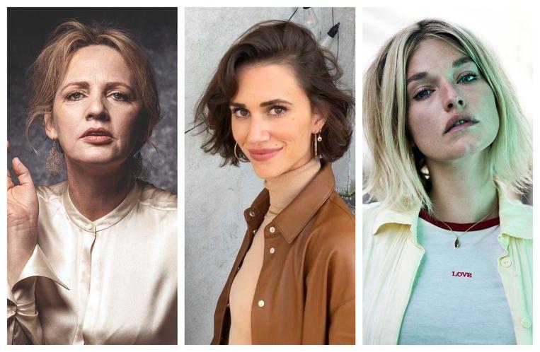 Onder meer Maaike Cafmeyer, Lize Feryn en Ella-June Henrard beschuldigen Bart De Pauw van grensoverschrijdend gedrag. Beeld rv