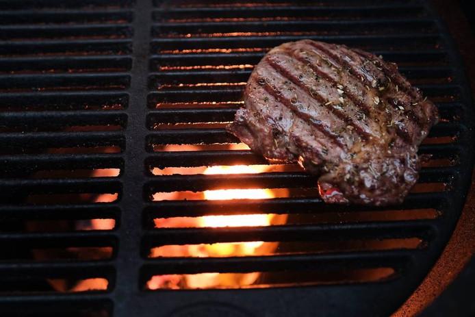 De steak.