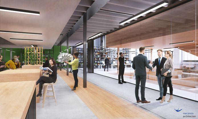 Het kantoor, the office, waar de nieuwe organisatie neerstrijkt die ontstaat na fusie van BKKC en Kunstbalie.