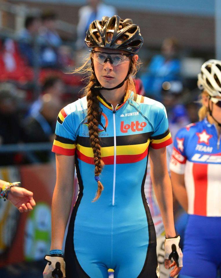 Sandrine Tas is de onbetwiste kopvrouw bij de Belgen Beeld skatingsisters