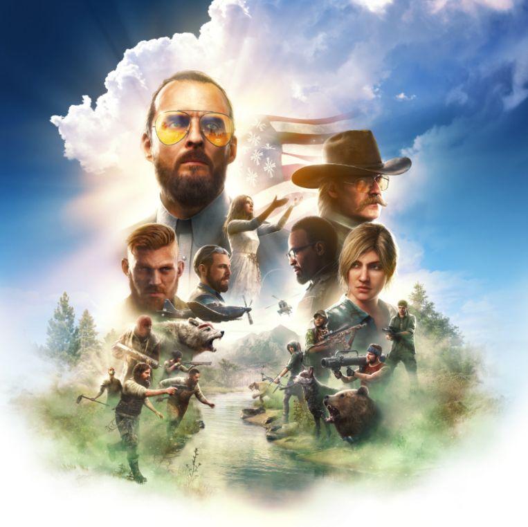 De sekte die u het hoofd moet bieden in 'Far Cry 5' bestaat uit leider Joseph Seed en diens broers en zus John, Jacob en Faith. Beeld Ubisoft