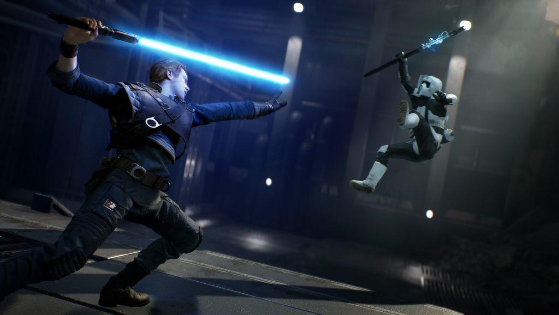Laserzwaard en The Force: twee wapens waarmee je de dienaars van het Rijk bij bosjes verslaat.