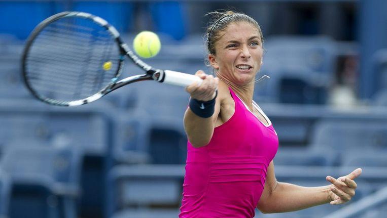Sara Errani speelt de halve finale in New York Beeld AFP