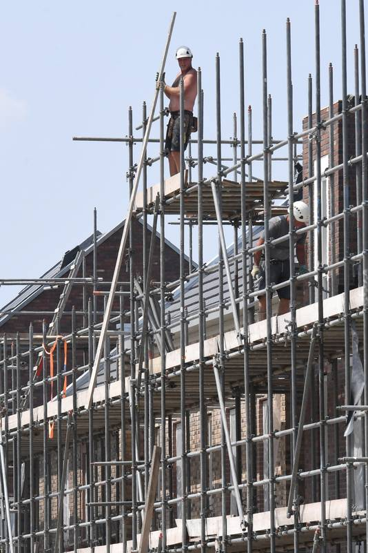 Nieuwbouw in de Heeswijkse Kampen in Cuijk.