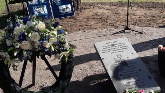 Het gedenkteken voor de in de nazi-concentratiekampen vermoorde Palestinapioniers uit Elden.