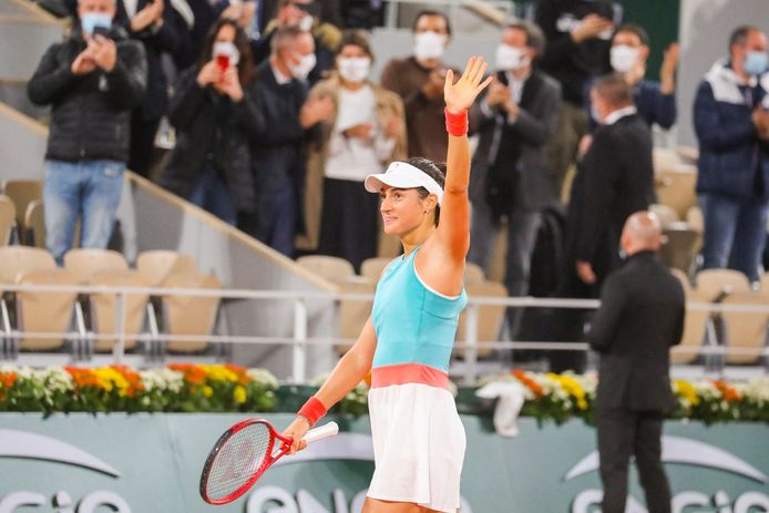 Caroline Garcia (FRA) a gagné son match contre Elise Mertens (Bel) devant son public