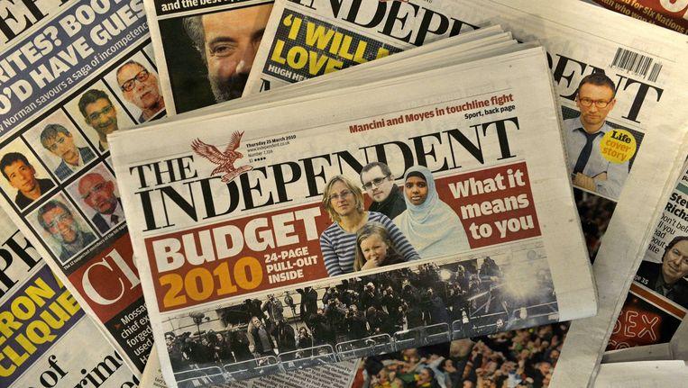 In 2010 kocht Alexander Lebedev de Britse krant voor een symbolische pond. Beeld AFP