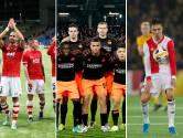 Standen in groepen AZ, Feyenoord en PSV