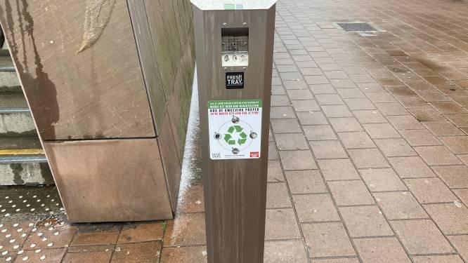 Stad Aarschot start proefproject met peukenzuilen in stationsomgeving