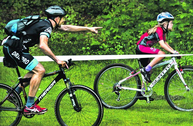 Mountainbike Landelijke wedstrijden, Jeugd categorie 1, Apeldoorn . Beeld Klaas Jan van der Weij