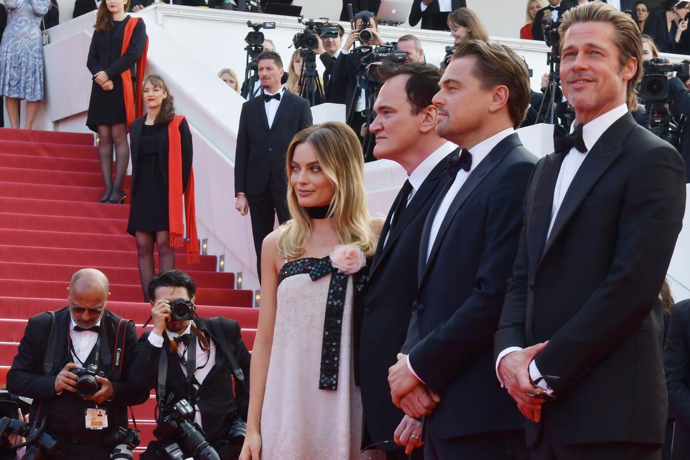 Margot Robbie, Quentin Tarantino, Leonardo DiCaprio et Brad Pitt
