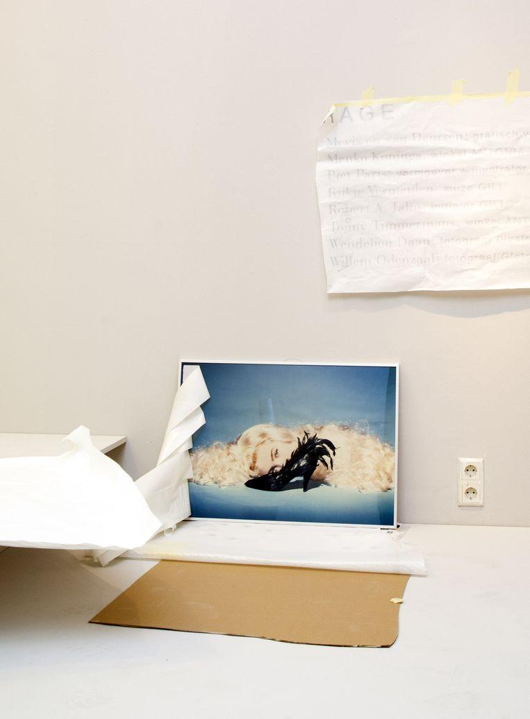 Een foto van Inez van Lamsweerde, de schoen is een ontwerp van Lola Pagola. Beeld Stefanie Gratz