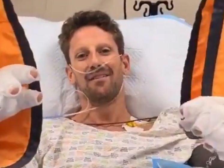 Dit is de videoboodschap van Grosjean na zijn horrorcrash in de Formule 1