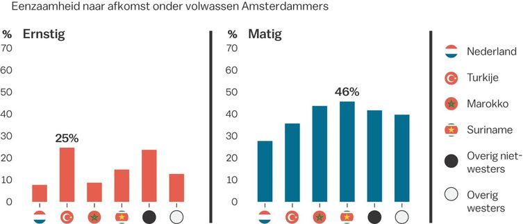 Meer dan de helft van deze migrantengroepen is matig of ernstig eenzaam Beeld Laura van der Bijl