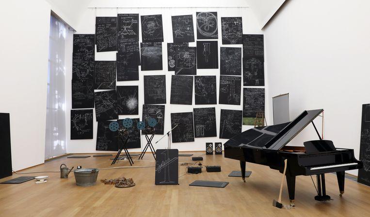 In Kapital Raum vatte Beuys zijn lezingen en performances van de jaren zeventig samen.  Beeld Hollandse Hoogte