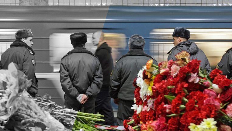 Metrostation Park Koeltoery na de aanslag in maart 2010. Beeld epa
